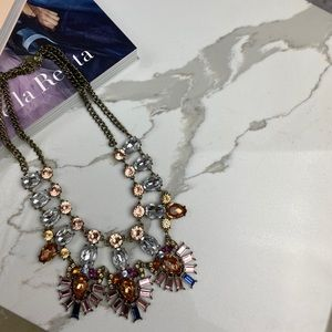 Statement Necklace with Multicolor Stones